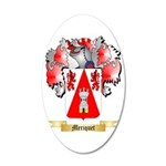 Meriquet 35x21 Oval Wall Decal