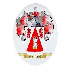 Meriquet Oval Ornament