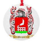 Mergue Round Ornament