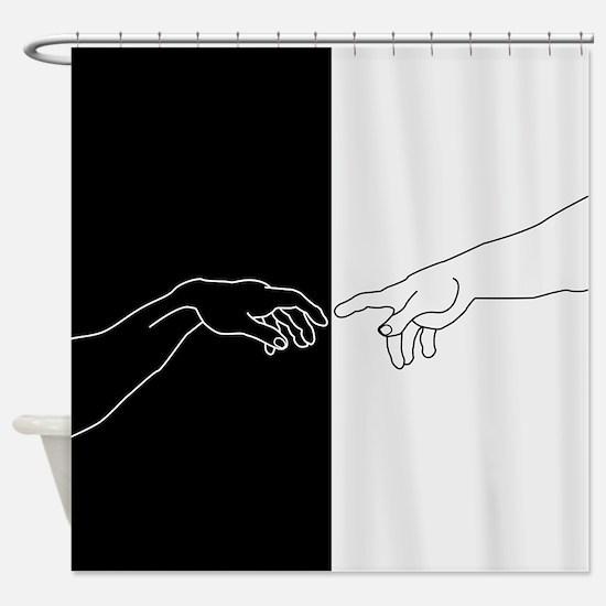 Human hand Shower Curtain