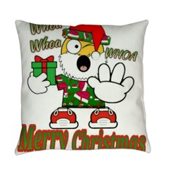 Whoa, whoa, Merry Christmas emoji Everyday Pillow