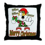 Whoa, whoa, Merry Christmas emoji Throw Pillow