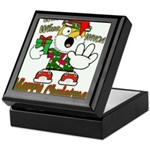 Whoa, whoa, Merry Christmas emoji Keepsake Box
