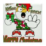 Whoa, whoa, Merry Christmas emoji Tile Coaster