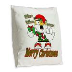 Whoa, whoa, Merry Christmas emoji Burlap Throw Pil