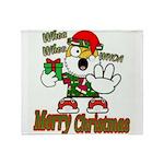 Whoa, whoa, Merry Christmas emoji Throw Blanket