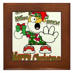 Whoa, whoa, Merry Christmas emoji Framed Tile