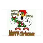 Whoa, whoa, Merry Christmas emoji Postcards (Packa