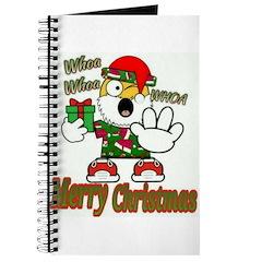 Whoa, whoa, Merry Christmas emoji Journal