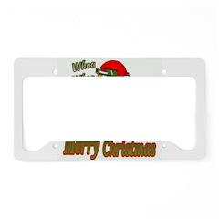 Whoa, whoa, Merry Christmas emoji License Plate Ho