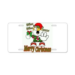 Whoa, whoa, Merry Christmas emoji Aluminum License
