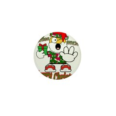 Whoa, whoa, Merry Christmas emoji Mini Button (100