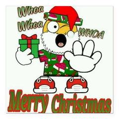 Whoa, whoa, Merry Christmas emoji Square Car Magne