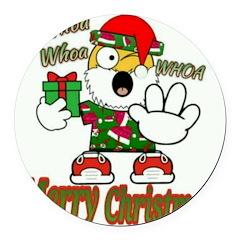 Whoa, whoa, Merry Christmas emoji Round Car Magnet