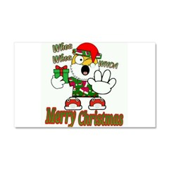 Whoa, whoa, Merry Christmas emoji Car Magnet 20 x