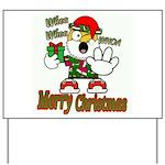 Whoa, whoa, Merry Christmas emoji Yard Sign