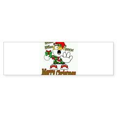 Whoa, whoa, Merry Christmas emoji Bumper Bumper Sticker