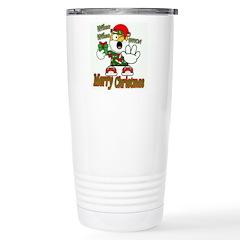 Whoa, whoa, Merry Christmas emoji Travel Mug
