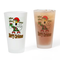 Whoa, whoa, Merry Christmas emoji Drinking Glass