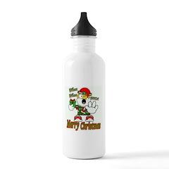 Whoa, whoa, Merry Christmas emoji Water Bottle