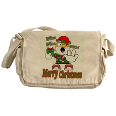 Whoa, whoa, Merry Christmas emoji Messenger Bag