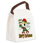 Whoa, whoa, Merry Christmas emoji Canvas Lunch Bag