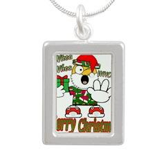 Whoa, whoa, Merry Christmas emoji Necklaces