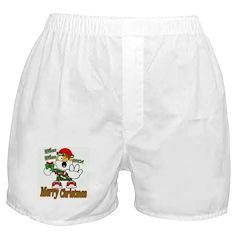 Whoa, whoa, Merry Christmas emoji Boxer Shorts
