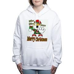 Whoa, whoa, Merry Christmas emoji Women's Hooded S