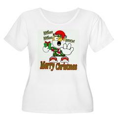 Whoa, whoa, Merry Christmas emoji Plus Size T-Shir
