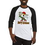 Whoa, whoa, Merry Christmas emoji Baseball Jersey