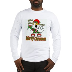 Whoa, whoa, Merry Christmas emoji Long Sleeve T-Sh
