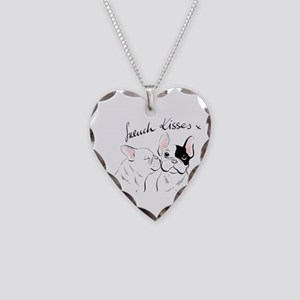 French Kisses Necklace Heart Charm