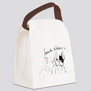 French Kisses Canvas Lunch Bag