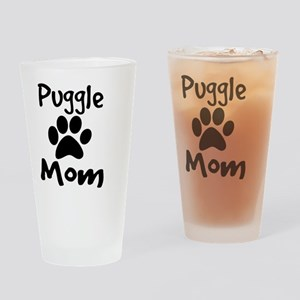 Puggle Mom Drinking Glass