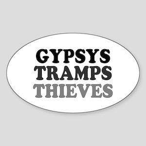 GYPSYS - TRAMPS - THIEVES :- Sticker