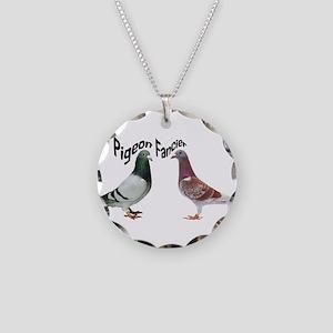 Pigeon Fancier Necklace Circle Charm