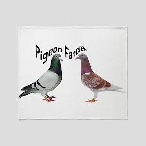 Pigeon Fancier Throw Blanket