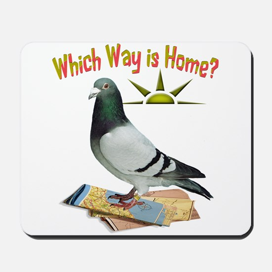 Which Way is Home? Fun Lost Pigeon Art Mousepad