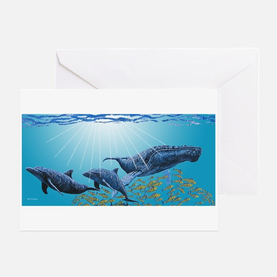 Humpback & Dolphins Greeting Card