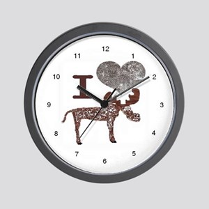 I heart Moose Wall Clock