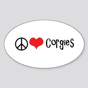 Peace Love and Corgies Sticker