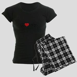 Peace Love and Corgies Women's Dark Pajamas