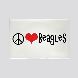 Peace Love and Beagles Magnets