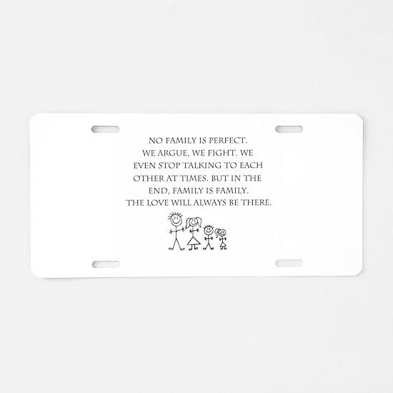 Family Aluminum License Plate