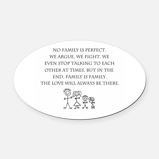 Family Oval Car Magnet