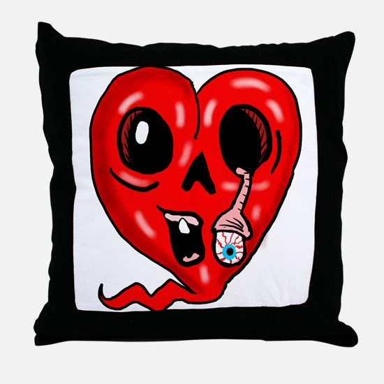Zombie Heart 3 Throw Pillow