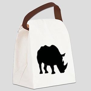 Rhino Silhouette Canvas Lunch Bag