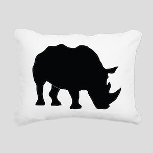 Rhino Silhouette Rectangular Canvas Pillow