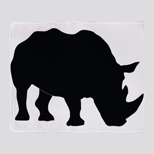 Rhino Silhouette Throw Blanket